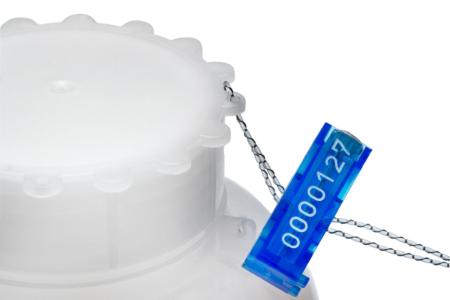 Sealed plastic bottle
