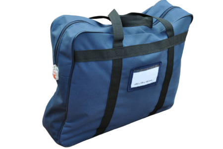Transport bag with handle for cash and documents